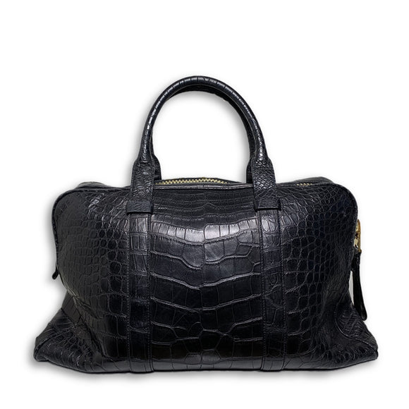 Buckley Alligator Black Briefcase