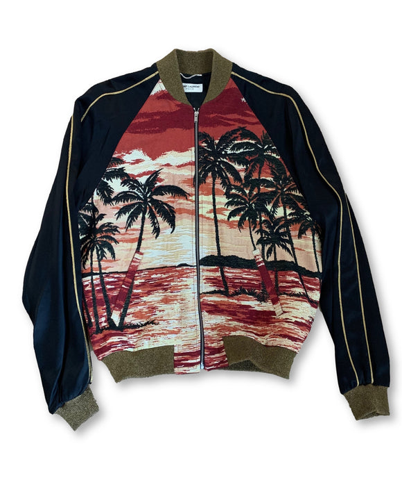 Saint Laurent Paris SS16 Custom Hedi Slimane 1 of 1 Palm Tree Bomber