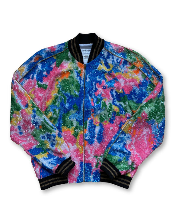 SS16 Embroidered Tie Dye Teddy Jacket