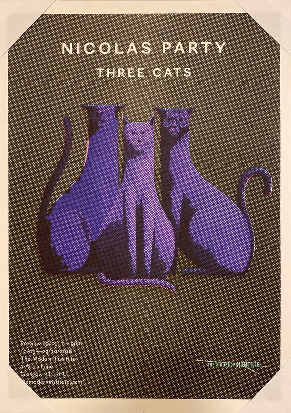 THREE CATS Exhibition Poster
