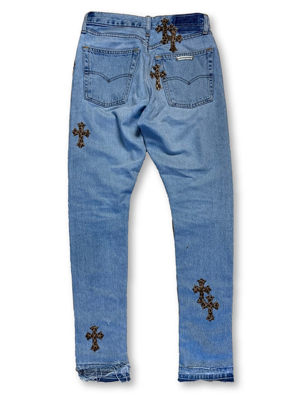 Chrome Hearts x Levi's Patchwork Denim (Leopoard cross) - Size 28
