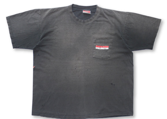 Vintage Thrashed & Faded Marlboro Pocket T-Shirt - L/XL