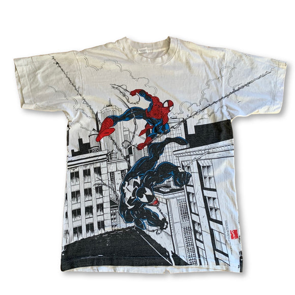 Vintage 1993 Marvel Spider Man T-Shirt - Large