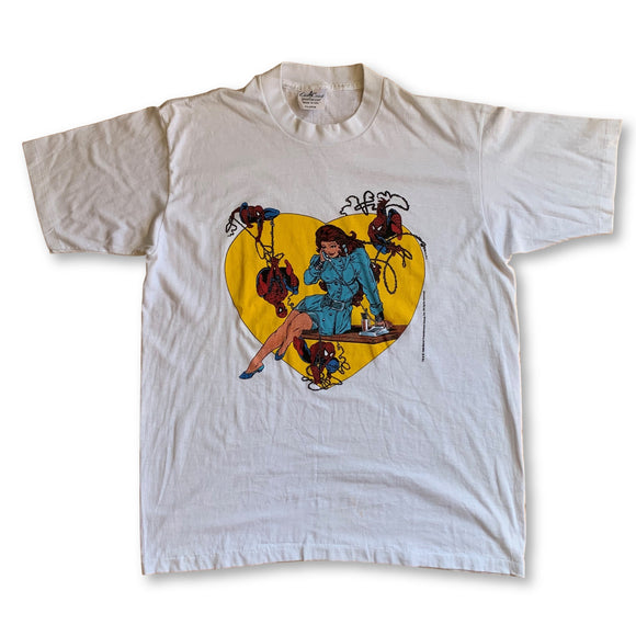 Vintage 1988 Marvel Spiderman T-Shirt - XL