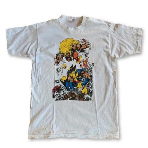 Vintage Marvel Wolverine Sabertooth T-Shirt - XL