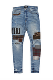Distressed Patchwork Denim