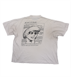 "Sonic Youth 1991 ""In GOO"" T-Shirt by Raymond Pettibon (EURO Verison)"
