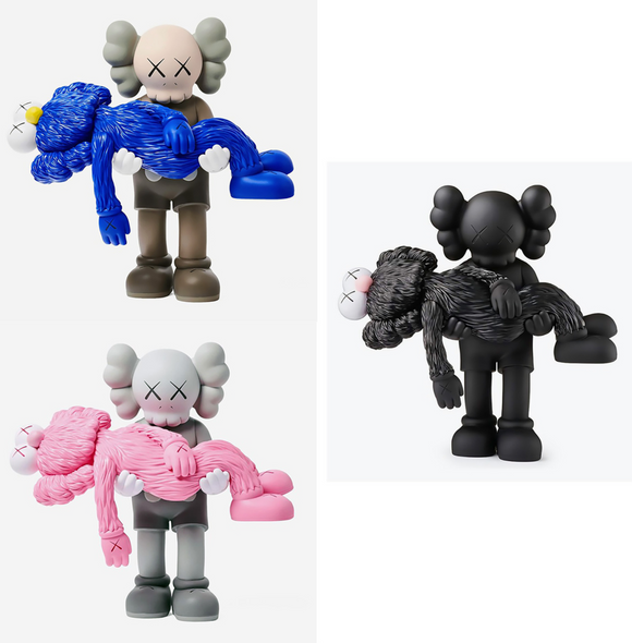 Gone Vinyl Figure Black/Brown/Grey Set