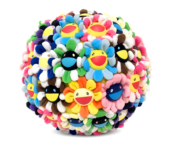 Takashi Murakami Plush Flower Ball Medium 40cm