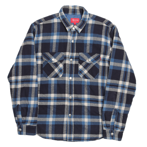 FW17 Quilted Arc Logo Flannel Jacket