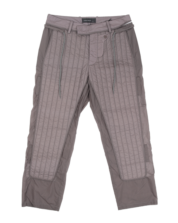 S/S 20 'Skin' Quilted Nylon Trousers