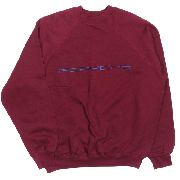 1980's Porsche Embroidered Logo Sweatshirt
