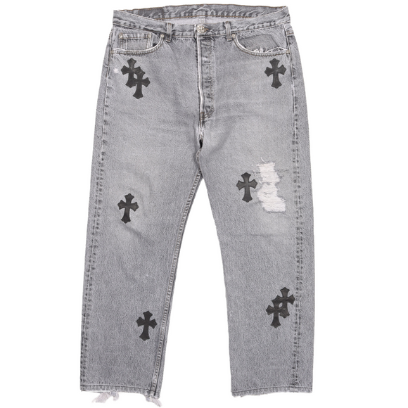 Levi's Cross Patch Distressed Denim