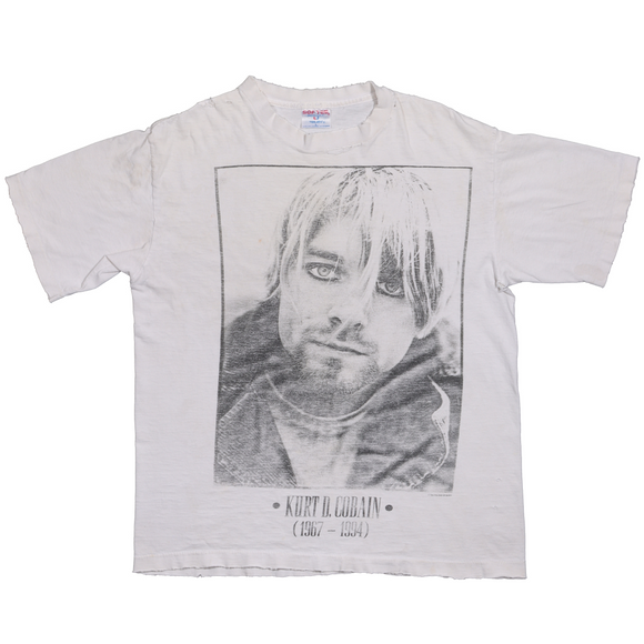 1990's Kurt Cobain Portrait Memorial T-Shirt