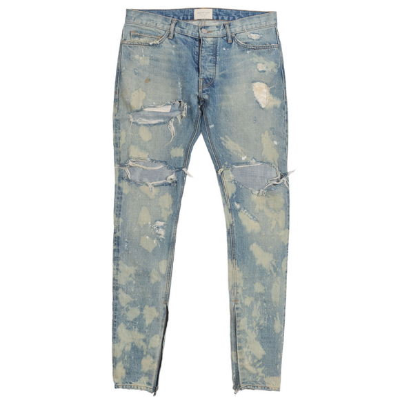 Distressed Bleach Denim
