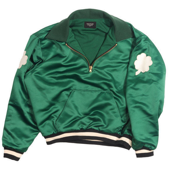 5th Collection 1987 Celtic Satin Half Zip Jacket