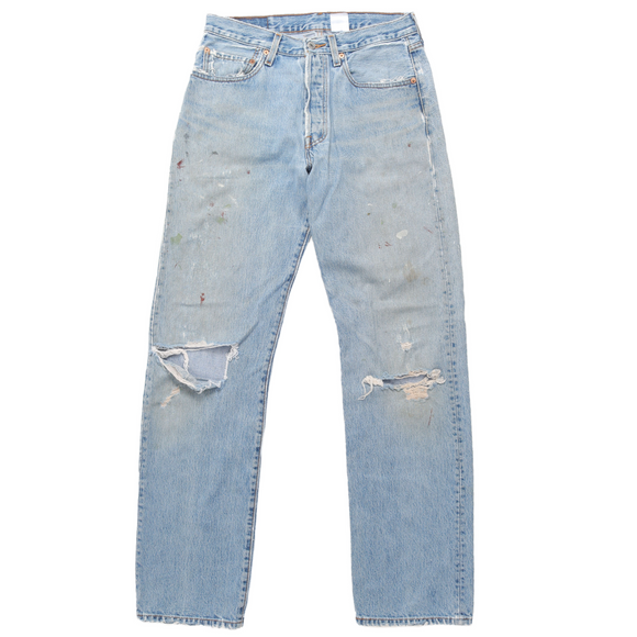 Levi's 501 Distressed Painter Denim