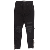 MX1 Classic Black Distressed Denim