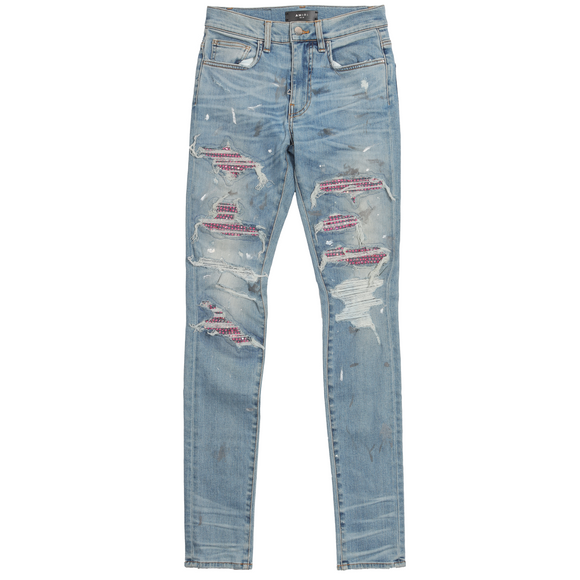 2016 Distressed Crystal Patch Denim