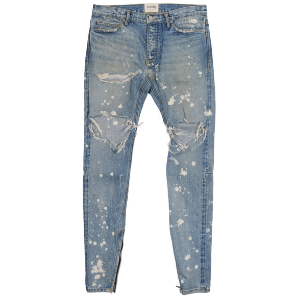 Purpose Tour Distressed Bleach Denim