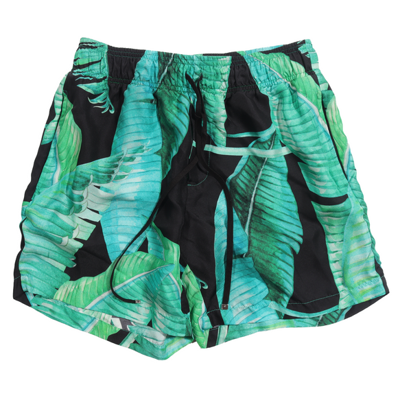 Banana Leaf Satin Shorts