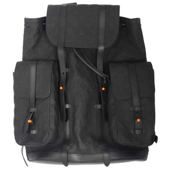 Virgil Abloh CHRISTOPHER Leather Backpack Monogram
