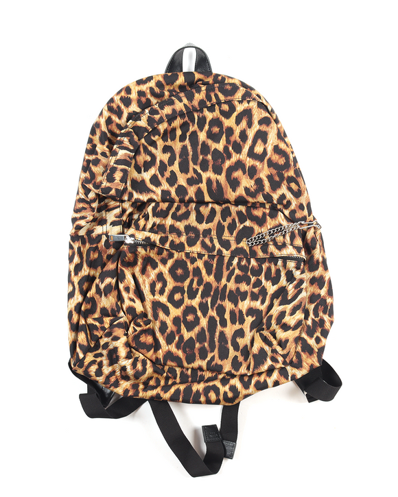 Medium Nylon Leopard Print BackPack w/ Tags