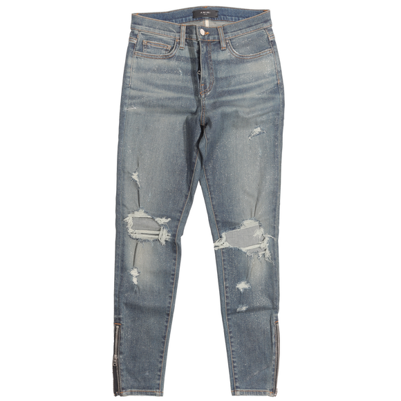 Glitter MX1 Distressed Denim