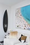 Chanel x Philippe Barland Limited Edition Blue Carbon Surfboard