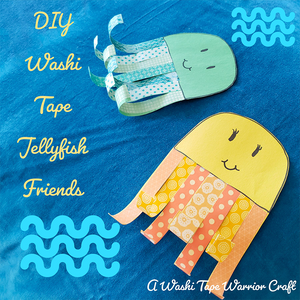 Make DIY Washi Tape Jellyfish Friends