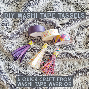Quick, Easy, DIY Washi Tape Tassels