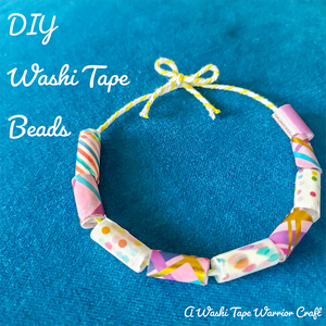 Washi Tape Bead Craft Tutorial