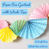 Paper Fan Garland with Washi Tape Tutorial