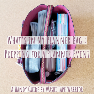 Guide for What to Bring to Planner Events