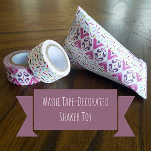 DIY Washi Tape Decorated Shaker Toy- Great for Kids!