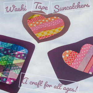 Washi Tape Sun Catchers
