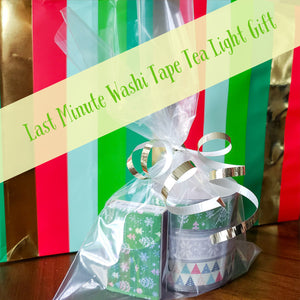 Washi Tape Tea Light Last Minute Gift DIY
