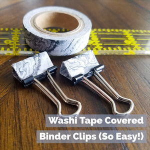 Make Your Own Washi Tape Covered Binder Clips