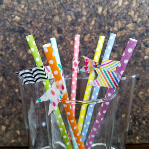 Dress Up Your Straws with Fun Washi Tape Flags