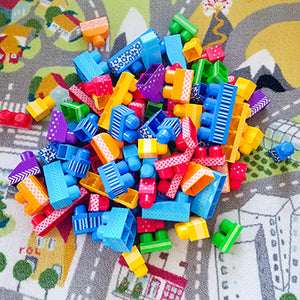 Children's Large Building Blocks Decorated with Washi Tape