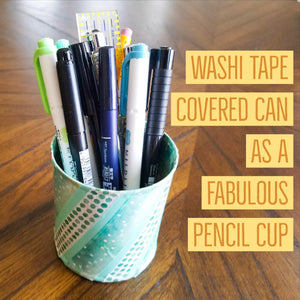 Washi Tape Covered Can DIY Tutorial