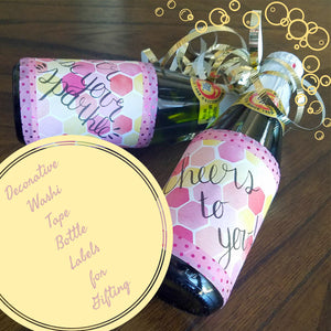 Decorate Gift Bottles with Washi Tape Labels
