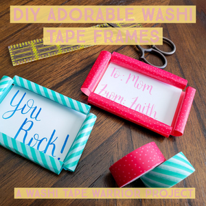 DIY Adorable Washi Tape Frames