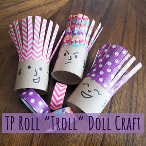 "TP Roll ""Troll"" Doll Washi Tape Craft"