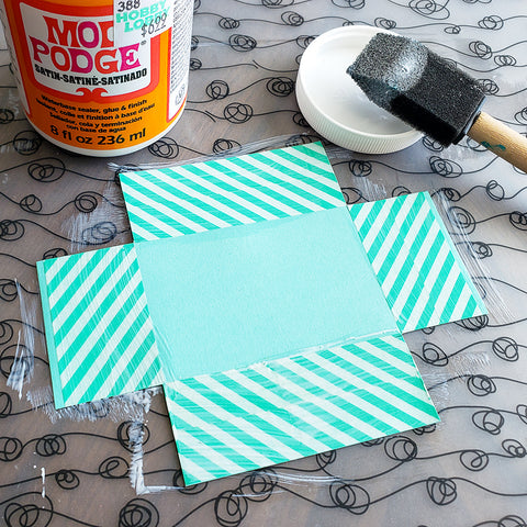 Applying Modge Podge to Your DIY Adorable Washi Tape Picture Frame