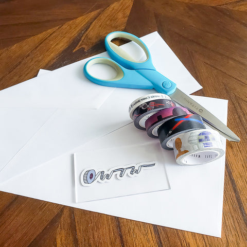 Supplies for No Fold Washi Tape Corner Bookmarks
