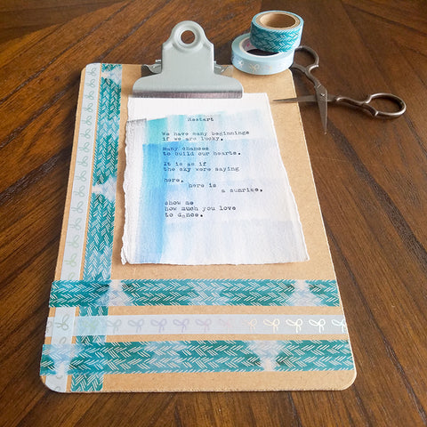 Finished Washi Tape Clipboard Frame