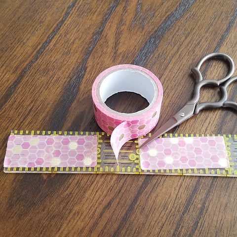 Cutting Washi Tape for Washi Tape Feather Bookmarks