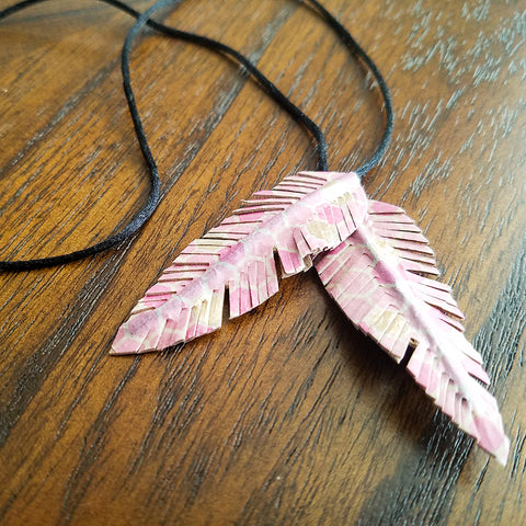 Completed DIY Washi Tape Feather Bookmark