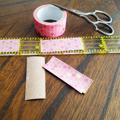 Beginning to Build DIY Washi Tape Feather Bookmarks